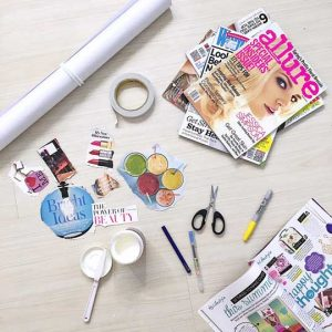 vision-board-how-to-make-crafts-tutorial-easy-materials-flat-lay